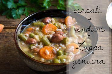 Zuppa verdure cereali
